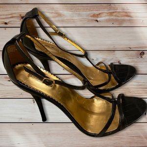 Report Signature Leather shoes stilettos heels 8